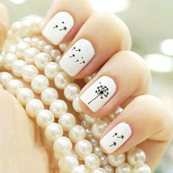 24 dandelion nail art - 40+ Cute Dandelion Nail Art Designs And Tutorials – Make a Dandelion Wish
