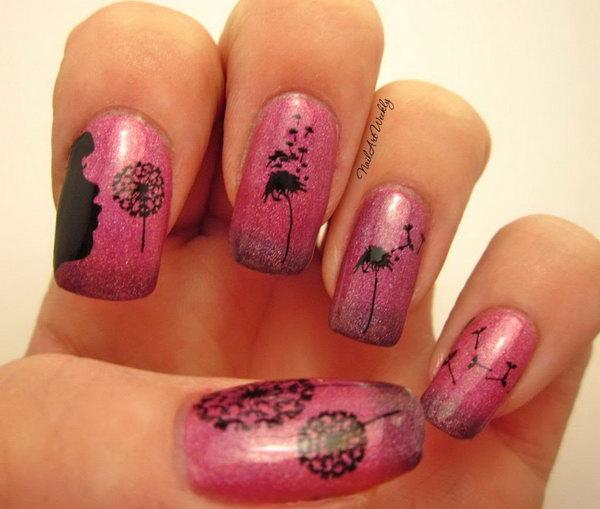25 dandelion nail art - 40+ Cute Dandelion Nail Art Designs And Tutorials – Make a Dandelion Wish