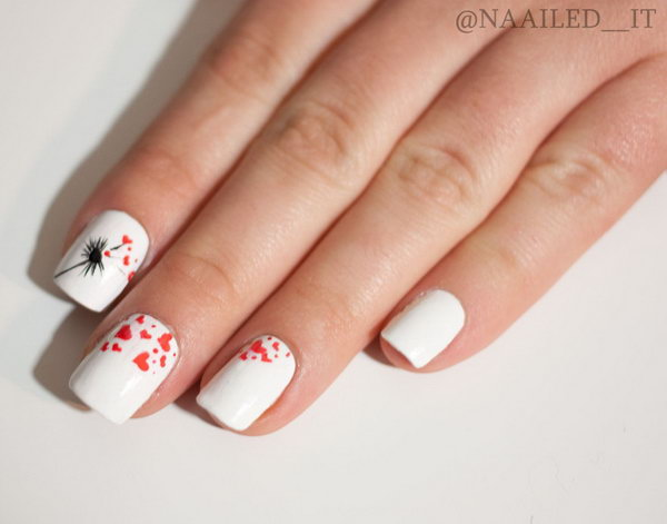 3 dandelion nail art - 40+ Cute Dandelion Nail Art Designs And Tutorials – Make a Dandelion Wish