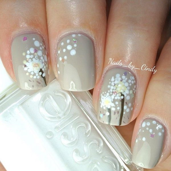 35 dandelion nail art - 40+ Cute Dandelion Nail Art Designs And Tutorials – Make a Dandelion Wish