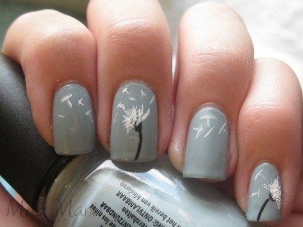 40 dandelion nail art - 40+ Cute Dandelion Nail Art Designs And Tutorials – Make a Dandelion Wish