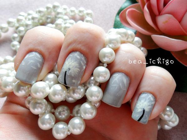 45 dandelion nail art - 40+ Cute Dandelion Nail Art Designs And Tutorials – Make a Dandelion Wish