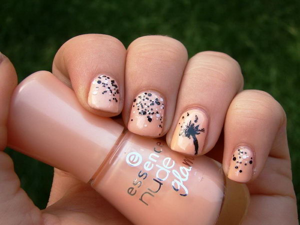 47 dandelion nail art - 40+ Cute Dandelion Nail Art Designs And Tutorials – Make a Dandelion Wish