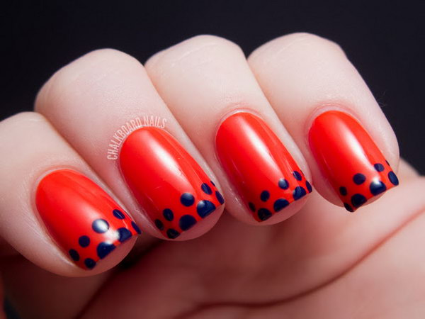 16 french tip nail designs - 60 Fashionable French Nail Art Designs And Tutorials