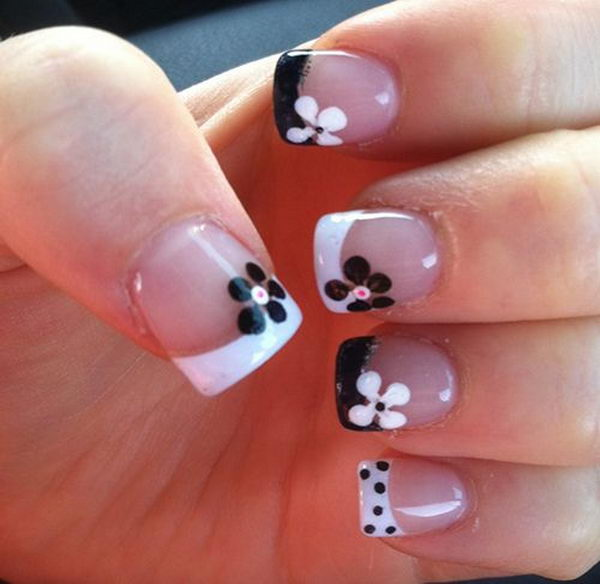 26 french tip nail designs - 60 Fashionable French Nail Art Designs And Tutorials