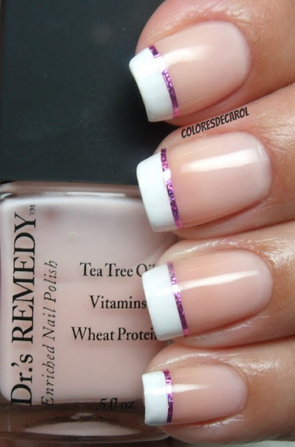 42 french tip nail designs - 60 Fashionable French Nail Art Designs And Tutorials