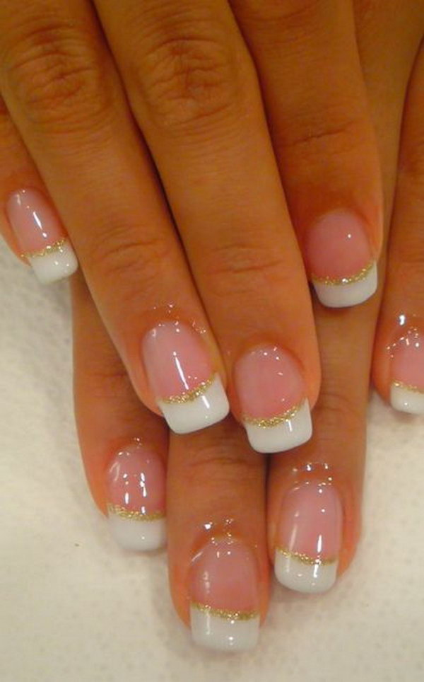 43 french tip nail designs - 60 Fashionable French Nail Art Designs And Tutorials