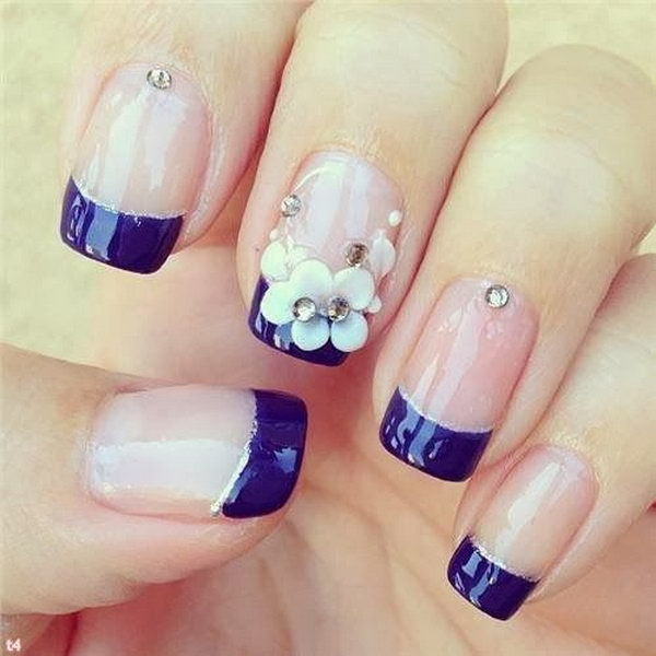 48 french tip nail designs - 60 Fashionable French Nail Art Designs And Tutorials