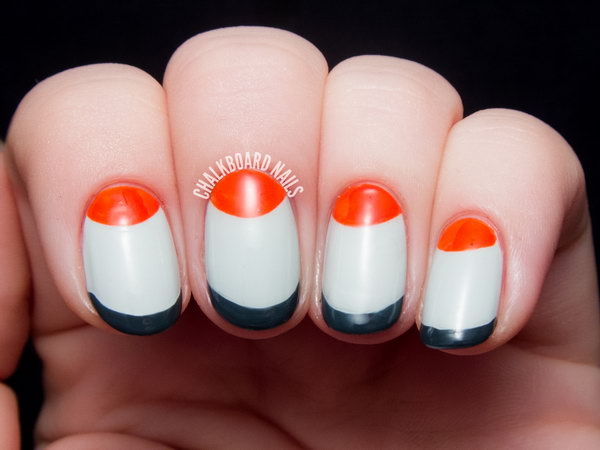 5 french tip nail designs - 60 Fashionable French Nail Art Designs And Tutorials