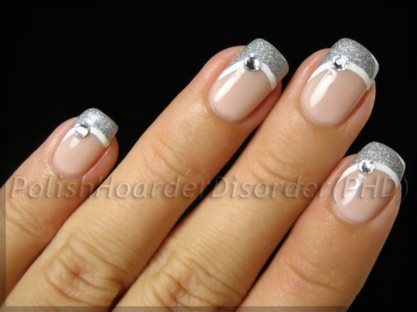 53 french tip nail designs - 60 Fashionable French Nail Art Designs And Tutorials