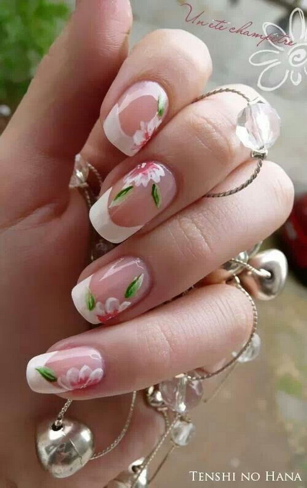 58 french tip nail designs - 60 Fashionable French Nail Art Designs And Tutorials