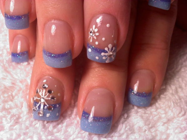 59 french tip nail designs - 60 Fashionable French Nail Art Designs And Tutorials