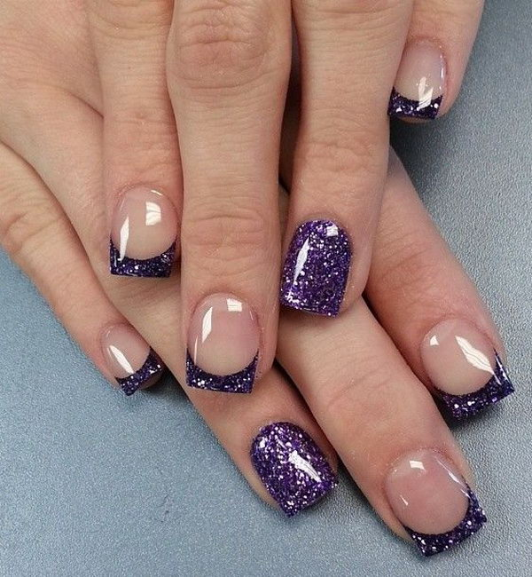 60 french tip nail designs - 60 Fashionable French Nail Art Designs And Tutorials