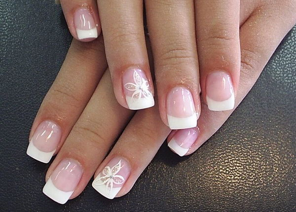 7 french tip nail designs - 60 Fashionable French Nail Art Designs And Tutorials