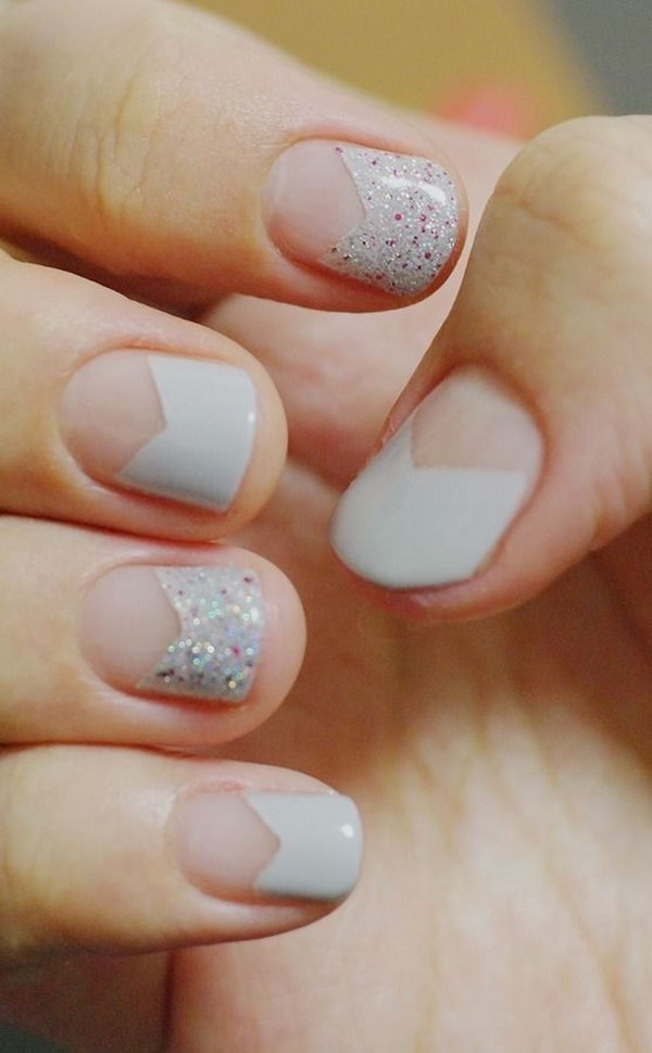 9 french tip nail designs - 60 Fashionable French Nail Art Designs And Tutorials