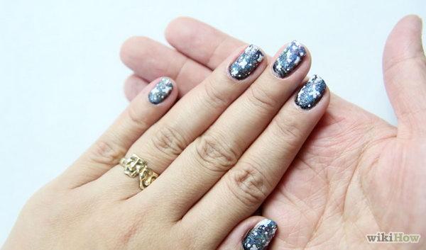 16 galaxy nail art - 50 Gorgeous Galaxy Nail Art Designs and Tutorials