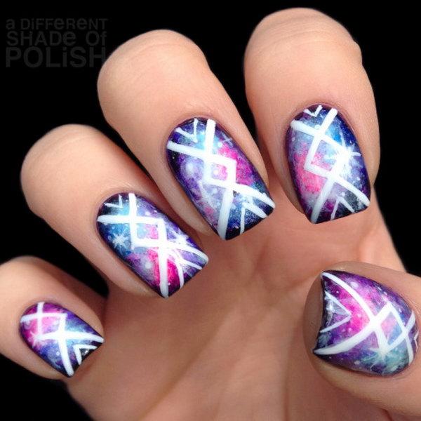 37 galaxy nail art - 50 Gorgeous Galaxy Nail Art Designs and Tutorials