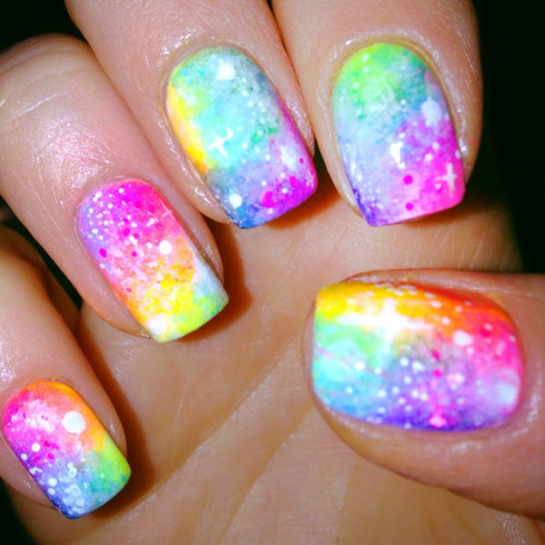 43 galaxy nail art - 50 Gorgeous Galaxy Nail Art Designs and Tutorials