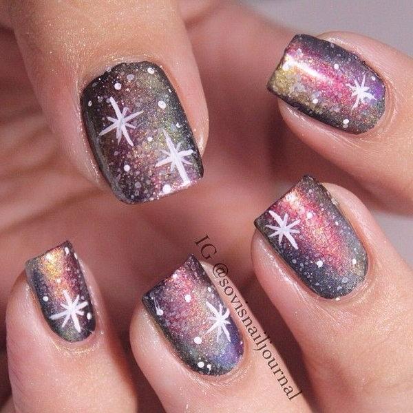 45 galaxy nail art - 50 Gorgeous Galaxy Nail Art Designs and Tutorials