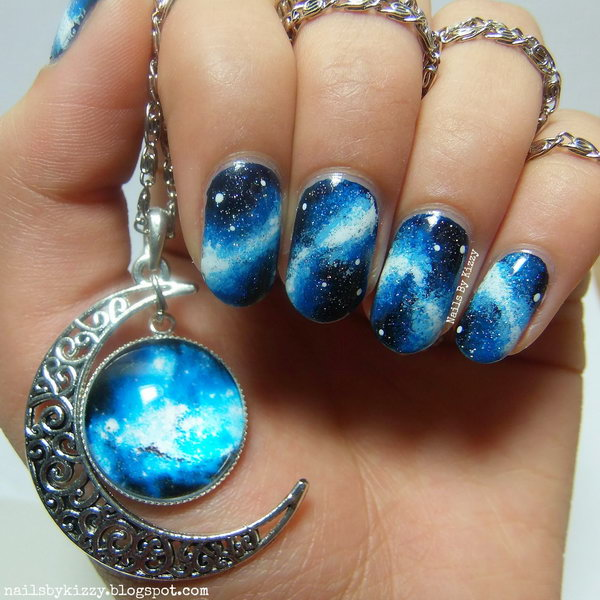 46 galaxy nail art - 50 Gorgeous Galaxy Nail Art Designs and Tutorials