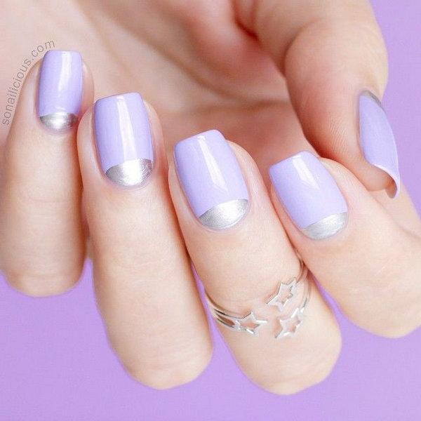 26 half moon nail art - 60+ Stunning Half Moon Nail Art Designs & Tutorials