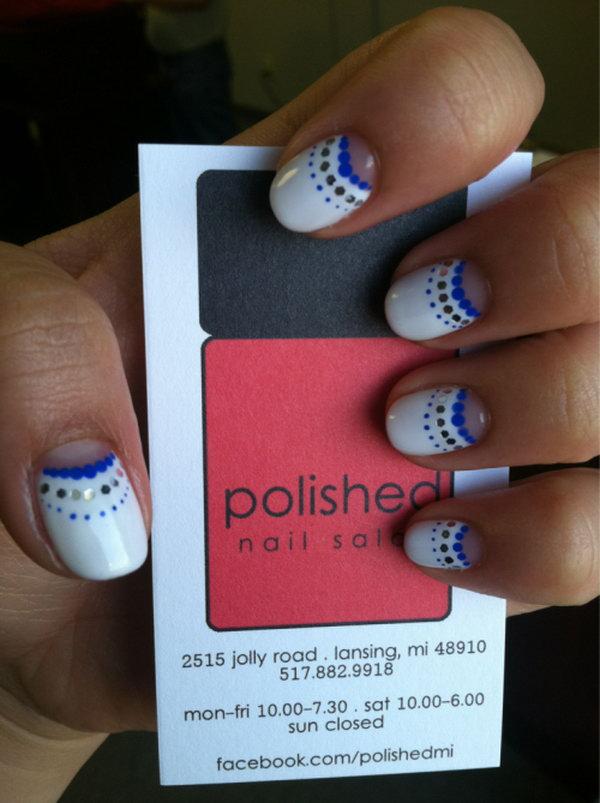 48 half moon nail art - 60+ Stunning Half Moon Nail Art Designs & Tutorials