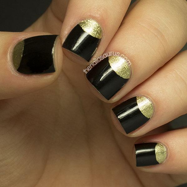 7 half moon nail art - 60+ Stunning Half Moon Nail Art Designs & Tutorials