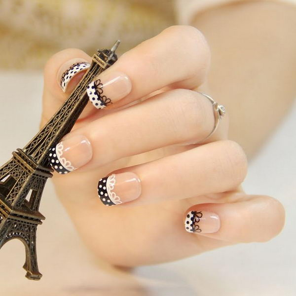 10 lace nail art - 60 Lace Nail Art Designs & Tutorials For You To Get The Fashionable Look
