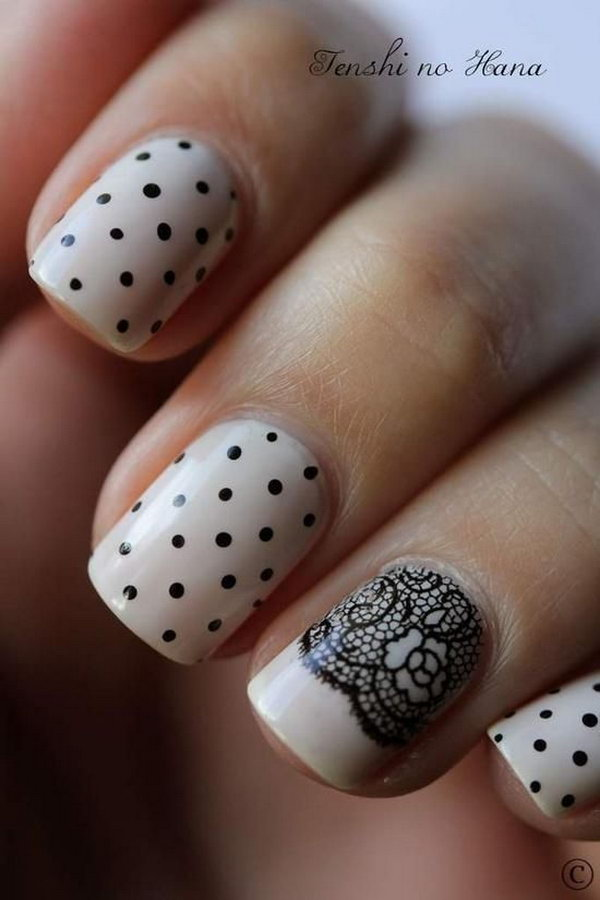 14 lace nail art - 60 Lace Nail Art Designs & Tutorials For You To Get The Fashionable Look