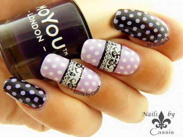 22 lace nail art - 60 Lace Nail Art Designs & Tutorials For You To Get The Fashionable Look