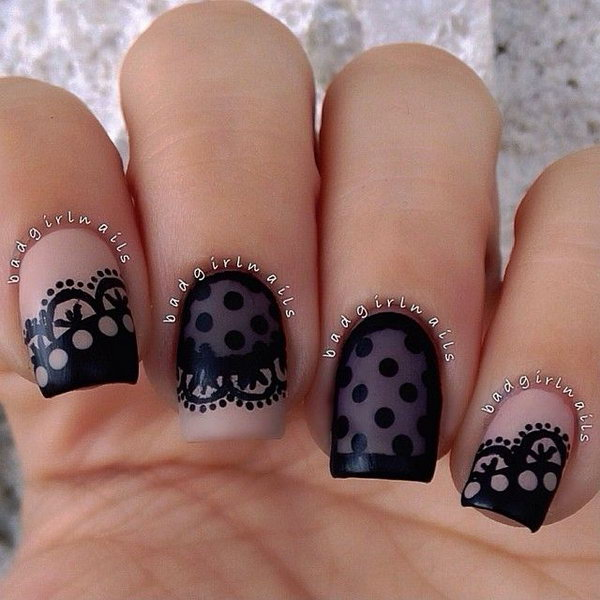 29 lace nail art - 60 Lace Nail Art Designs & Tutorials For You To Get The Fashionable Look