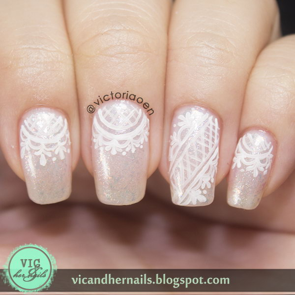 42 lace nail art - 60 Lace Nail Art Designs & Tutorials For You To Get The Fashionable Look