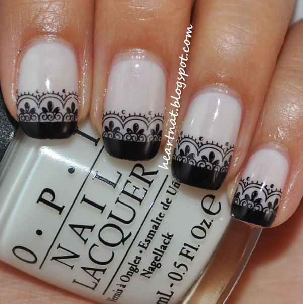 50 lace nail art - 60 Lace Nail Art Designs & Tutorials For You To Get The Fashionable Look
