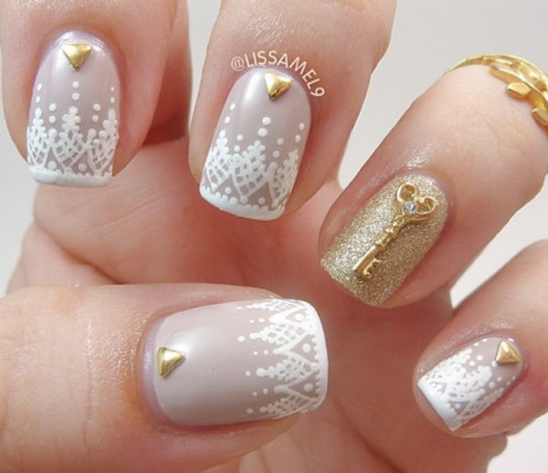 52 lace nail art - 60 Lace Nail Art Designs & Tutorials For You To Get The Fashionable Look