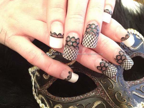 54 lace nail art - 60 Lace Nail Art Designs & Tutorials For You To Get The Fashionable Look