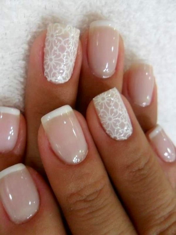 59 lace nail art - 60 Lace Nail Art Designs & Tutorials For You To Get The Fashionable Look