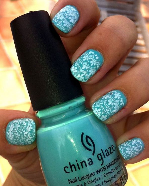 6 lace nail art - 60 Lace Nail Art Designs & Tutorials For You To Get The Fashionable Look