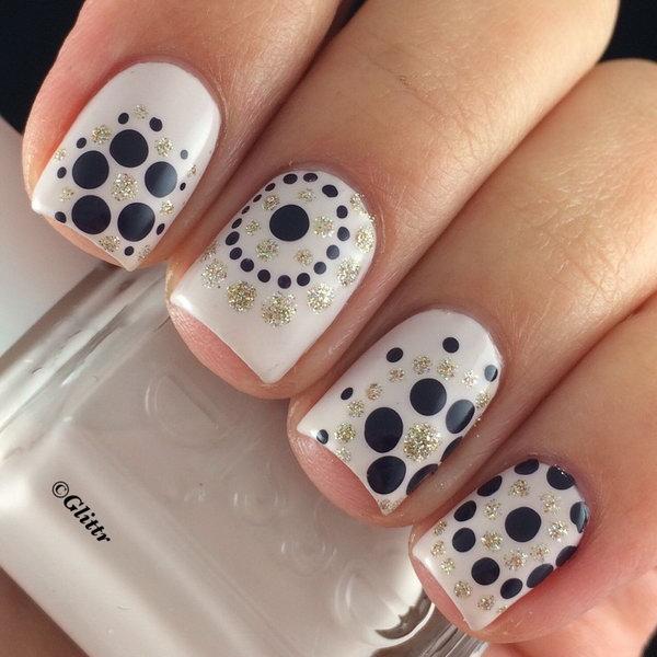 10 polka dots nail art designs - 50+ Stylish Polka Dots Nail Art Designs