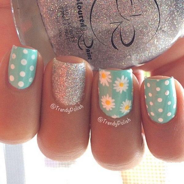 12 polka dots nail art designs - 50+ Stylish Polka Dots Nail Art Designs