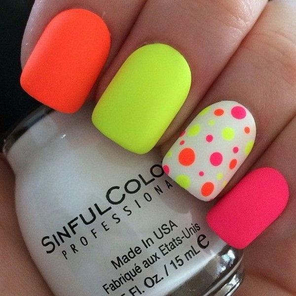 17 polka dots nail art designs - 50+ Stylish Polka Dots Nail Art Designs