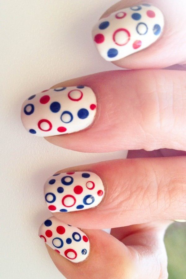 33 polka dots nail art designs - 50+ Stylish Polka Dots Nail Art Designs