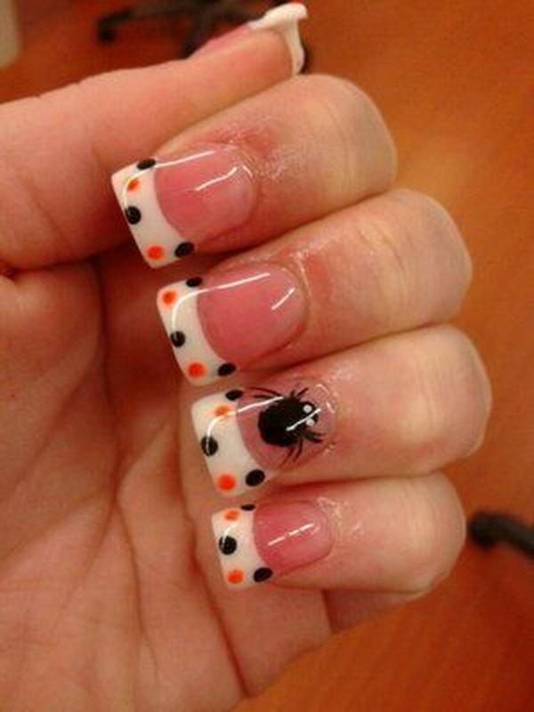 39 polka dots nail art designs - 50+ Stylish Polka Dots Nail Art Designs