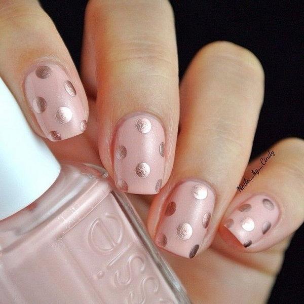 4 polka dots nail art designs - 50+ Stylish Polka Dots Nail Art Designs