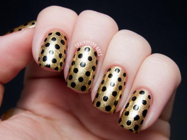 6 polka dots nail art designs - 50+ Stylish Polka Dots Nail Art Designs