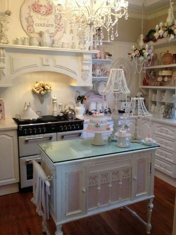 Small Kitchen Design Shabby Chic