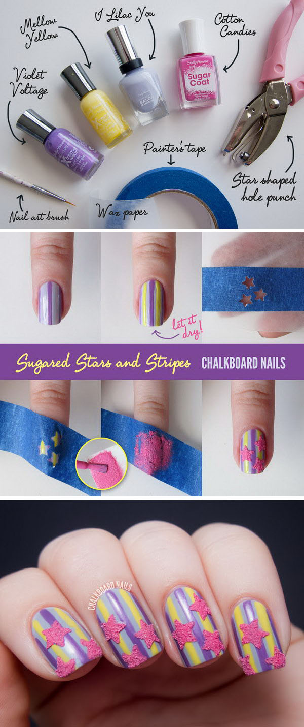 16 step by step nail art tutorials - 20+ Easy and Fun Step by Step Nail Art Tutorials