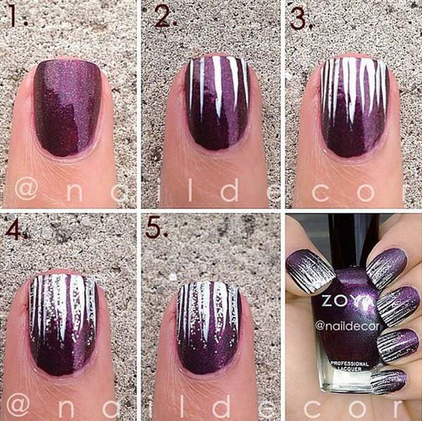 4 step by step nail art tutorials - 20+ Easy and Fun Step by Step Nail Art Tutorials