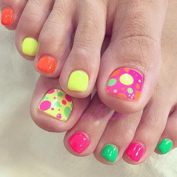 17 toe nail art designs - 60 Cute & Pretty Toe Nail Art Designs