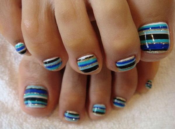 25 toe nail art designs - 60 Cute & Pretty Toe Nail Art Designs