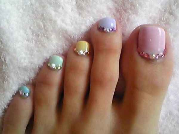 29 toe nail art designs - 60 Cute & Pretty Toe Nail Art Designs